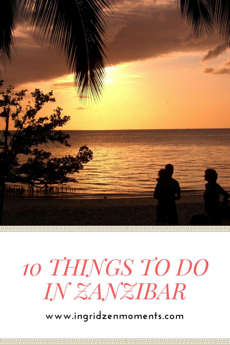10 things to do in Zanzibar
